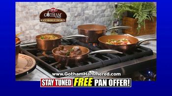 Gotham Steel Hammered Collection TV Spot, 'Free Egg Pan: $29.99'