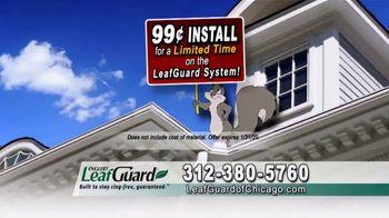LeafGuard of Chicago 99 Cent Install Sale TV Spot, 'Clog-Free Guarantee' - Thumbnail 5