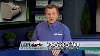 LeafGuard of Chicago 99 Cent Install Sale TV Spot, 'Clog-Free Guarantee'