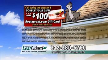 LeafGuard of Chicago 99 Cent Install Sale TV Spot, 'Clog-Free Guarantee' - Thumbnail 8