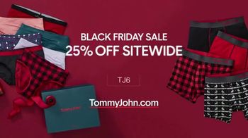 Tommy John Black Friday Sale TV Spot, '25 Percent Off Sitewide and Free Shipping'