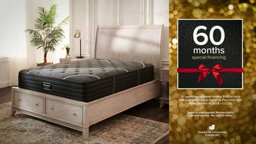American Signature Furniture Black Friday Sale TV Commercial, '20 Percent Off Dream Mattresses'