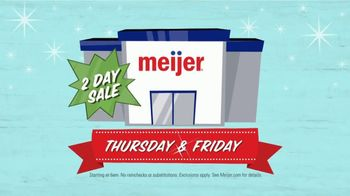 Meijer Black Friday Two Day Sale TV Spot, 'Twice as Nice' - Thumbnail 5