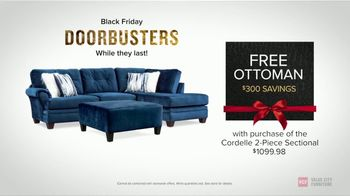 Value City Furniture Black Friday Sale TV Spot, 'Biggest & Best: Free Ottomans' - Thumbnail 5