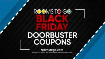 Rooms to Go TV Spot, 'Black Friday Doorbuster Coupons: 60 Months Interest Free'