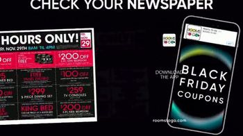 Rooms to Go TV Spot, 'Black Friday Doorbuster Coupons: 60 Months Interest Free' - Thumbnail 4