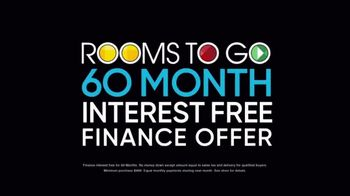 Rooms to Go TV Spot, 'Black Friday Doorbuster Coupons: 60 Months Interest Free' - Thumbnail 7