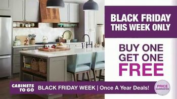Cabinets To Go Black Friday Week TV Spot, 'Dream Kitchen and BOGO Cabinets' - Thumbnail 1