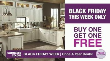 Cabinets To Go Black Friday Week TV Spot, 'Dream Kitchen and BOGO Cabinets' - Thumbnail 2