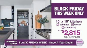 Cabinets To Go Black Friday Week TV Spot, 'Dream Kitchen and BOGO Cabinets' - Thumbnail 3