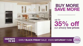 Cabinets To Go Early Black Friday Sale TV Spot, 'Shaker Style Kitchen'