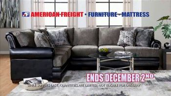 American Freight Black Friday 4 Day Sale TV Spot, 'Queen Mattress, Sofa and Table' - Thumbnail 10