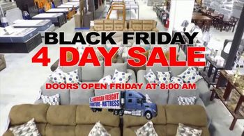 American Freight Black Friday 4 Day Sale TV Spot, 'Queen Mattress, Sofa and Table'