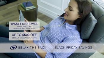 Relax the Back Black Friday Savings TV Spot, '15% Off Storewide' - Thumbnail 4