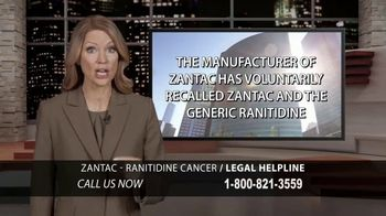 Chaffin Luhana TV Spot, 'Zantac/Ranitidine Legal Help'