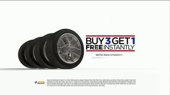 National Tire & Battery TV Spot, 'Bald: Buy Three, Get One Free and Rebate' - Thumbnail 6