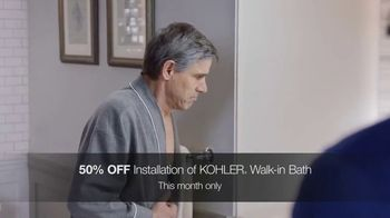 Kohler TV Spot, 'Walk-In Bath: 50 Percent Off Installation' - Thumbnail 3