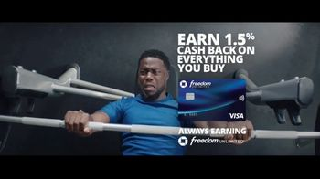 Chase Freedom Unlimited Card TV Spot, 'With Freedom Unlimited, You're Always Earning With Online Purchases' Featuring Kevin Hart - Thumbnail 8