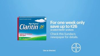 Claritin TV Spot, 'Feel the Clarity: Save $26' - Thumbnail 7