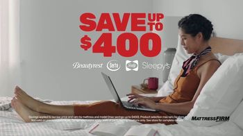 Mattress Firm Semi-Annual Sale TV Spot, 'Save Up to $400: Free Adjustable Base'