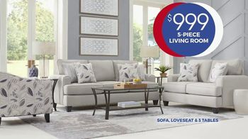 Rooms to Go Anniversary Sale TV Spot, 'Five Piece Living Room' Song by Junior Senior - Thumbnail 4