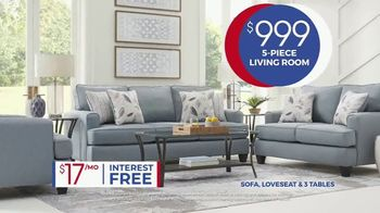 Rooms to Go Anniversary Sale TV Spot, 'Five Piece Living Room' Song by Junior Senior - Thumbnail 5