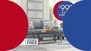 Rooms to Go Anniversary Sale TV Spot, 'Five Piece Living Room' Song by Junior Senior - Thumbnail 6