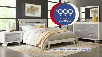 Rooms to Go Anniversary Sale TV Spot, 'Five Piece Bedroom Set' Song by Junior Senior - Thumbnail 5