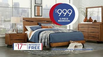 Rooms to Go Anniversary Sale TV Spot, 'Five Piece Bedroom Set' Song by Junior Senior - Thumbnail 7