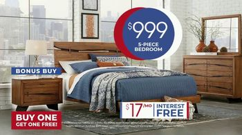 Rooms to Go Anniversary Sale TV Spot, 'Five Piece Bedroom Set' Song by Junior Senior - Thumbnail 8