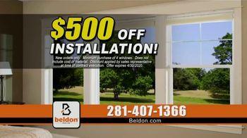 Beldon Windows TV Spot, 'Energy Bill: $500 Off Installation, No Payments for 12 Months' - Thumbnail 4