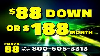 Crazy 88 TV Spot, '$88 Down' - Thumbnail 1