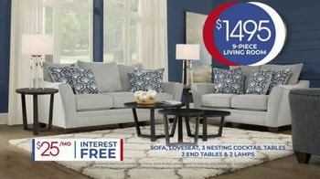 Rooms to Go Anniversary Sale TV Spot, 'Living Room Package' Song by Junior Senior - Thumbnail 8
