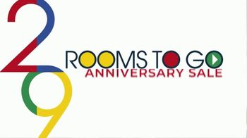 Rooms to Go Anniversary Sale TV Spot, 'Five Piece Dining Set' Song by Junior Senior - Thumbnail 1