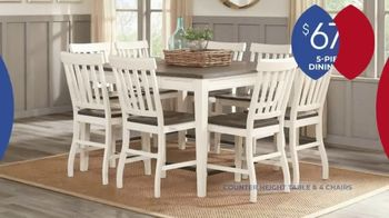 Rooms to Go Anniversary Sale TV Spot, 'Five Piece Dining Set' Song by Junior Senior - Thumbnail 3