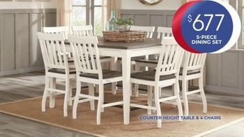 Rooms to Go Anniversary Sale TV Spot, 'Five Piece Dining Set' Song by Junior Senior - Thumbnail 4