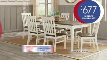 Rooms to Go Anniversary Sale TV Spot, 'Five Piece Dining Set' Song by Junior Senior - Thumbnail 6