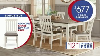 Rooms to Go Anniversary Sale TV Spot, 'Five Piece Dining Set' Song by Junior Senior - Thumbnail 7