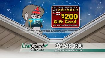 LeafGuard of Indiana Winter Half Off Sale TV Spot, 'Magic on the Inside: Gift Card' - Thumbnail 9