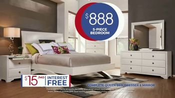 Rooms to Go Anniversary Sale TV Spot, 'Five Piece Bedroom: Bonus Buy' Song by Junior Senior - Thumbnail 4