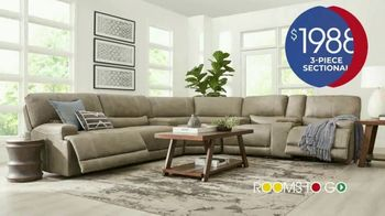 Rooms to Go Anniversary Sale TV Spot, 'Power Reclining Sectional' Song by Junior Senior - Thumbnail 4