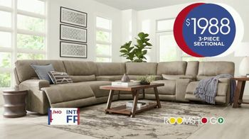 Rooms to Go Anniversary Sale TV Spot, 'Power Reclining Sectional' Song by Junior Senior - Thumbnail 5