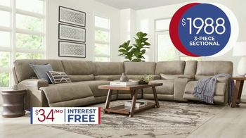 Rooms to Go Anniversary Sale TV Spot, 'Power Reclining Sectional' Song by Junior Senior - Thumbnail 6
