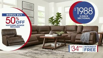 Rooms to Go Anniversary Sale TV Spot, 'Power Reclining Sectional' Song by Junior Senior - Thumbnail 8