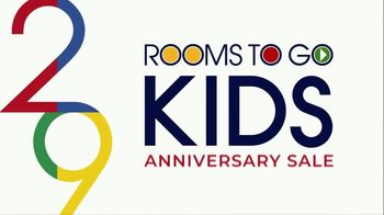 Rooms to Go Kids Anniversary Sale TV Spot, 'Kid's Rooms' Song by Junior Senior - Thumbnail 1