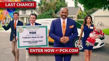 Publishers Clearing House TV Spot, '$7,000 a Week: Hurry' Featuring Steve Harvey - Thumbnail 2