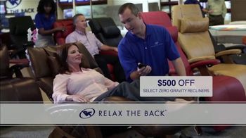 Relax the Back TV Spot, 'Zero Gravity Recliners: $500 Off' - Thumbnail 7