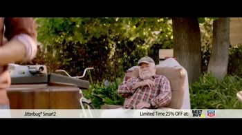 GreatCall Jitterbug Smart2 TV Spot, 'Yard Sale: 25% Off' - 85 commercial airings