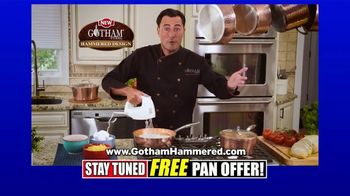 Gotham Steel Hammered Collection TV Spot, 'Reviews: Free Pan'