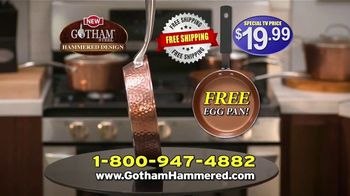 Gotham Steel Hammered Collection TV Spot, 'Reviews: Free Pan' - Thumbnail 10